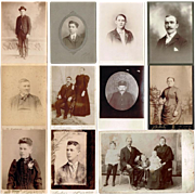 Vintage Studio Cabinet Card Photos of Adults