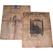 Two 1901 Philadelphia Inquirer's Newspapers The Death of President McKinley, September 14th an