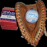 1950's Wilson Softball No. A 9100 and Wilson's The Big Scoop LH Softball ...