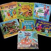 Seven 1960's, 70's, 80's, Walt Disney's Disneyland Records and Story Books