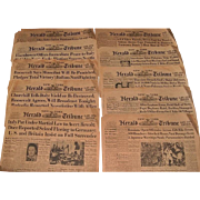 Thirty WWII Era New York Herald Tribune Front Pages, July 1943