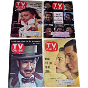 Four 1950's-60's TV Guides Featuring Stars of Pallidin, Annie Get Your Gun ...