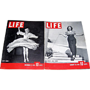 1939-1940 Life Magazines with Betty Grable & Lana Turner on Covers