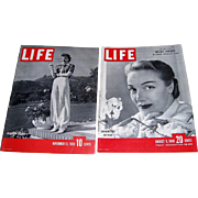 1939-1948 Life Magazines with Marlene Dietrich and Claudette Colbert on Covers