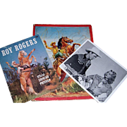 1950's Cowboy and Western Memorabilia, Roy Rogers Program and Photo, Cowboy Puzzle