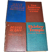 1940's Shirley Temple, Deanna Durbin, Betty Grable, and Van Johnson Mystery Books