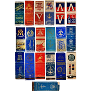 19 WWII Era Match Book Covers, Army/Navy/Marines