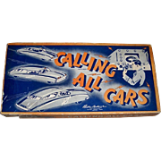 1940's Calling All Cars Board Game by Parker Brothers