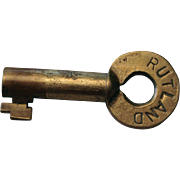 Scarce Rutland Railroad Brass Hollow Barrel Switch Key