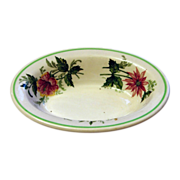"Atlantic Coast Line Railroad ""Flora of the South"" China Baker Dish"