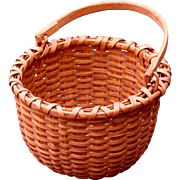 Sweet Little Red Oak Splint Swing Handle Taghkanic Signature Basket