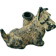 Early 1900s Little Scottie Dog Desk Pen Holder