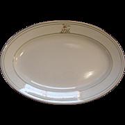 Antique Delaware & Hudson Railroad Saratoga Pattern Script Top Logo China Platter