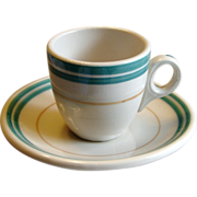 Southern Railroad China Piedmont Demitasse Cup & Saucer Set