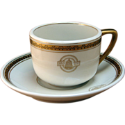 SALE Baltimore & Ohio Railroad Black Capitol Coffee Cup & Saucer Set