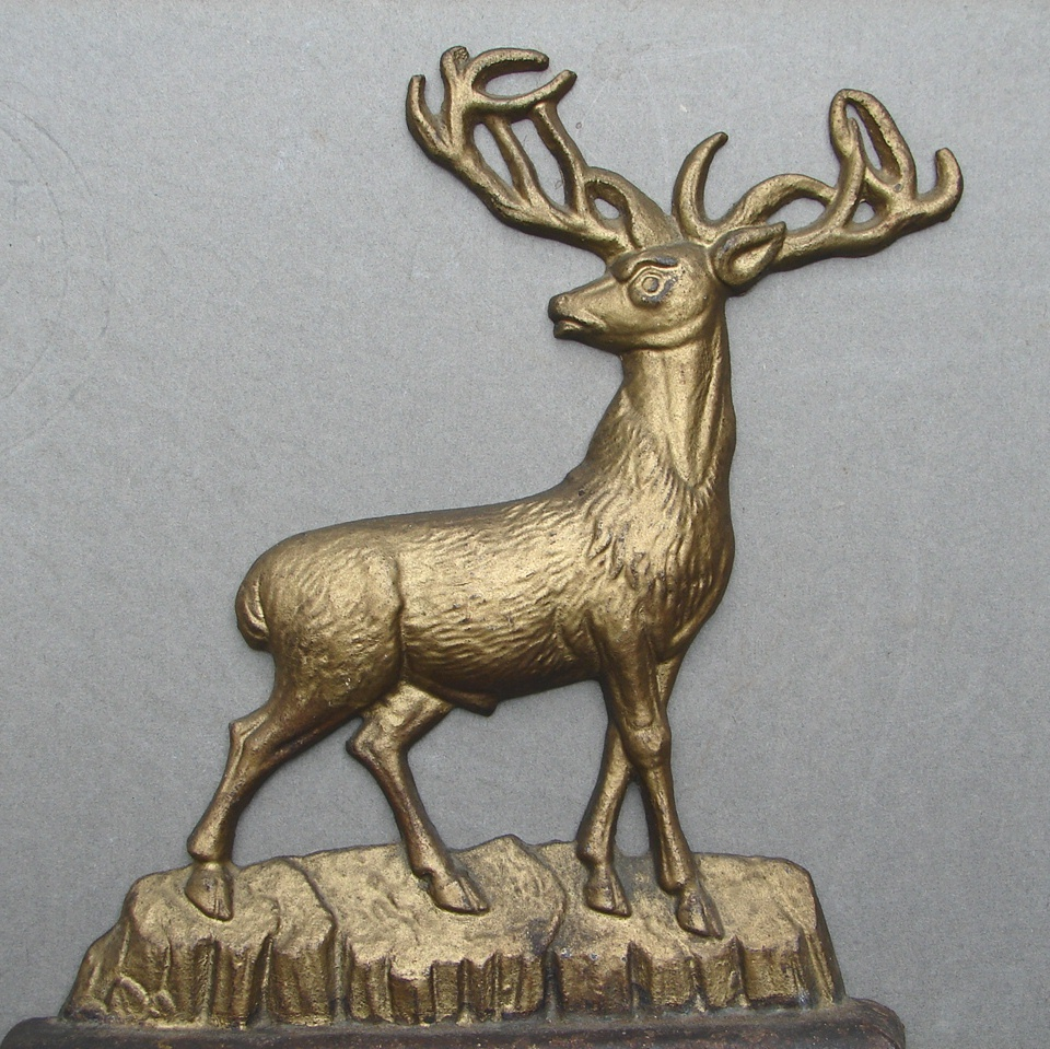 Early Albany Ny Foundry 3 4 Body Stag Deer Cast Iron