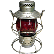 Boston & Maine Railroad Cast Red Globe Adlake Reliable Tall Lantern