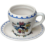 SOLD Milaukee Road Railroad China Peacock Cup & Saucer Set