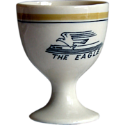 SALE Missouri Pacific Railroad Tiny Eagle Pattern China Single Egg Cup
