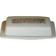"Vintage Retro Pyrex Stick Margarine or Butter Dish in ""Woodland"" Table Top Dinnerwar"