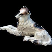 Realistic Wedgwood England China Borzoi Wolfhound Figurine