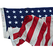 SALE PENDING Vintage 3'x5' 48-Star American Flag Bull Dog Bunting by Dettras