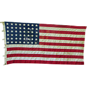 SALE PENDING Larger 48-Star American Flag Bulldog Bunting by Dettras of Pennsylvania Vintage P