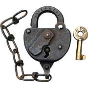 Rutland Railroad Switch Lock and Key set