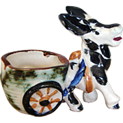 Adorable Donkey Cart Figurine Occupied Japan China Planter