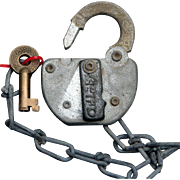 Vintage M&BRR Meridian & Bigbee Railroad Switch Lock & Key Set