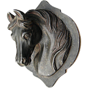Lifelike Detailed Victorian Horse Head Paperweight