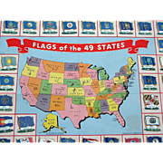 "Nabisco ""Flags Of Our 49 States"" 1959 Cereal Premium Historical Toy w Tin Lithograph"