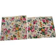 SALE TWO 1920s-1930s Old Fashioned Floral Patio Pillow Covers