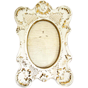 Porcelain French Creamy Gilded Rococo Frame