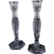 Waterford Crystal Candlesticks - Pair - Mint