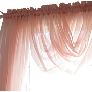 SOLD Beautiful Tea Rose Vintage Shabby Chic JCPENNEY sheer curtains