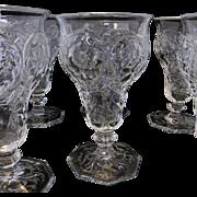 McKee Rock Crystal Footed Goblet or Wine - Set of 6