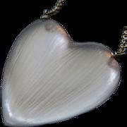 Vintage Alexis Bittar Carved Lucite Heart Necklace