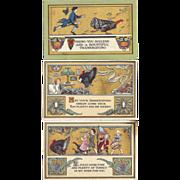 SOLD 1912 Trio Of Thanksgiving Postcards BON TON Art Co.Arts & Crafts Influence Gorgeous!
