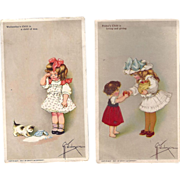 SOLD 1907 Postcard & Victorian Trade Card, Swifts Soap Grace Weiderseim, Wednesday & Fridays C