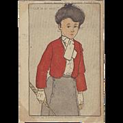 "SOLD 1904 ""GOLF IS SO EASY"" Boston Sunday Post Souvenir Postal card, Lady Golfer"