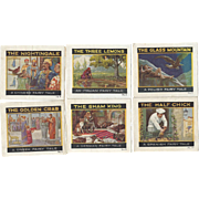 SALE c1910 Group of 6 Miniature Jello Advertising books, International Fairy Tales, Chinese, .