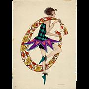 SALE Scarce Original period Art Deco Print High Fashion Meissner & Buch by Mela Koehler