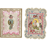 SOLD 4 Victorian Lacy Valentines Day Cards, 1 By Brundage, Birds, Flowers, Fairy, Children