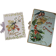 SOLD Sweet pair Of Victorian Christmas Die Cut Gift Books, Color Lithos, Raphael Tuck