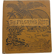 SALE c1900 Miniature E.P. Dutton Book THE PILGRIMS REST Religious Inspirational , Lovely Color