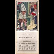1923 Advertising Calendar Blotter, Clara Burd Illustration, Boy In Dunce cap, JUNE