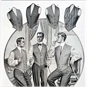 1913 Antique Advertising Men's Vests Clothing Catalog Billiards