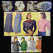 1930s Fashion Catalog Depression Era Vintage Clothing 1938 Bella Hess