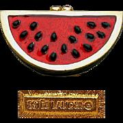 Estee Lauder Watermelon Solid Perfume Compact Case 1996